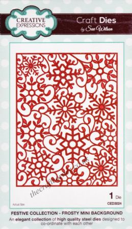 Frosty Mini Background - Festive Collection Craft Die by Sue Wilson CED3024